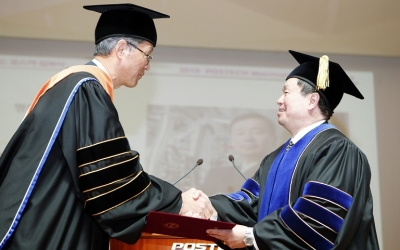 The First Asian American President of the University of Mis-souri System, Dr. Mun Y. Choi, Is Awarded an Honorary Doctorate at POSTECH