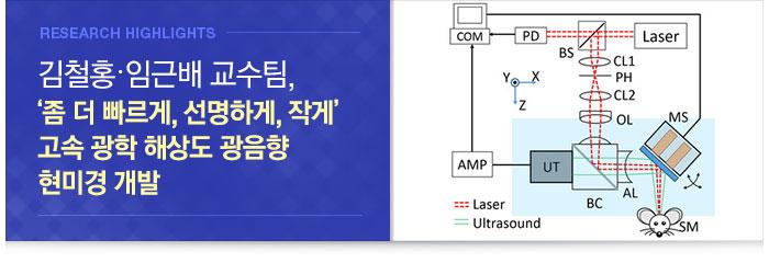 창의IT 김철홍․기계 임근배 교수팀, 고속 광학 해상도 광음향 현미경 개발