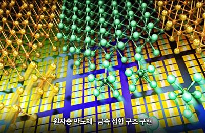 신소재 조문호 교수팀, 반도체-금속 성질 자유자재로 제어해 고성능 2차원 반도체 만든다