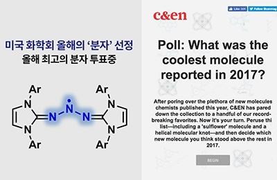 화학과 이은성 교수팀, '트리아지닐 라디칼' 미국 화학회 '올해의 분자' 선정