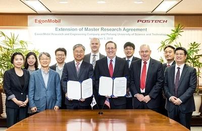 POSTECH, 엑손모빌과 신재생에너지 연구서도 관계 이어간다