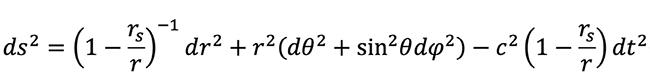 공간의 왜곡을 서술하는 식이 바로 아인슈타인 방정식