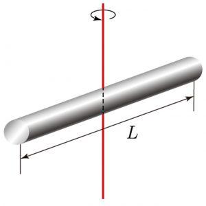 회전축이 중심에 있는 막대 이미지