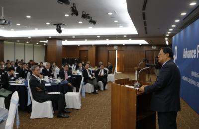정정길 울산공업학원 이사장, 김도연 총장 초청으로 특별강연